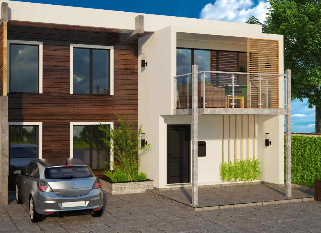 anbaubalkon seitliche st tzen aufgesetztes gel nder 3 x 3 meter balkon vision. Black Bedroom Furniture Sets. Home Design Ideas