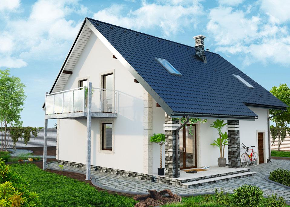 anbaubalkon seitliche st tzen aufgesetztes gel nder 4 x 4 meter balkon vision. Black Bedroom Furniture Sets. Home Design Ideas
